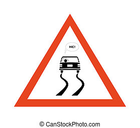 Alcohol Danger - Sign of danger with drunk motorist that are...