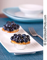 Blueberry Custard Tart - Delicious caramel custard tart...