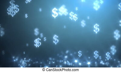 money rain background