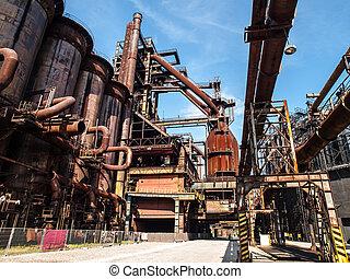 Blast furnace in steel factory - Blast furnace in...