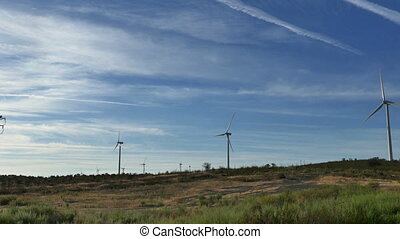 Wind Turbines in Agriculture Field