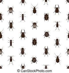 bugs and beetles simple seamless pattern eps10