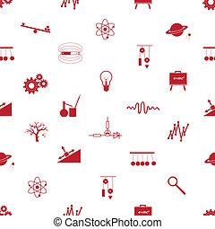 física, ícones, seamless, Padrão, eps10