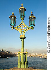 Ornate Lamp Post - An ornate lamp post on Westminster...