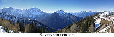 Panorama from mount Lussari, Italy - Panorama from mount...