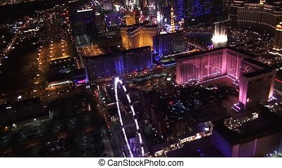 Aerial Vegas High Roller, the Linq