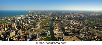 South Chicago aerial view