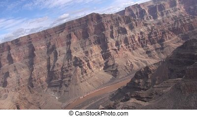Aerial GRAND CANYON National Park Fly Through Arizona United...