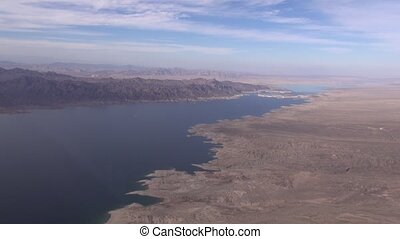 Aerial Lake Mead Calville Bay NV
