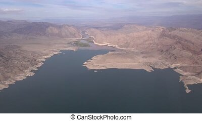 Aerial Lake Mead Boulder City
