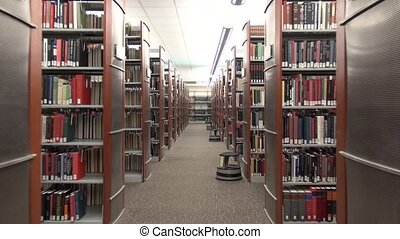 public library, book shelves