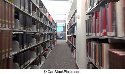 library book shelves and racks