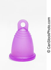 Vertical isolated menstrual cup - Studio shot of a...