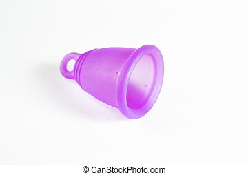 Menstrual cup closeup - Studio shot of a lying menstrual cup...