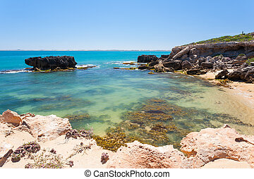 Robe South Australia - Small beach at Robe on the Limestone...