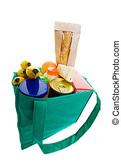 Grocery bag - Eco friendly grocery bag full of food