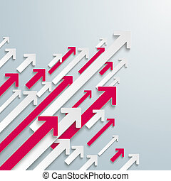 Arrows Up White Pink Bevel Growth Centre