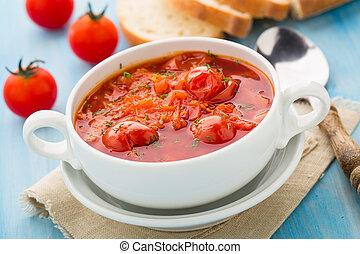 蔬菜, 湯, 碗