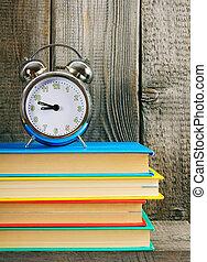 alarma, reloj, Libros