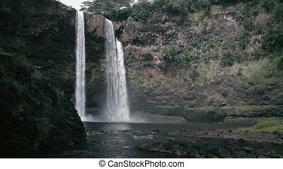 Rainbow Waterfall, Hawaii - 1080p, The topmost beautiful...