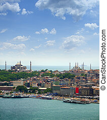 Aya Sofia and Blue Mosque - View over Aya Sofia and Blue...