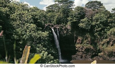 Hanawi Waterfall, Hawaii - 1080p, The topmost beautiful...