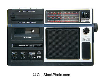 Old portable radio cassette player - Old and dirty portable...