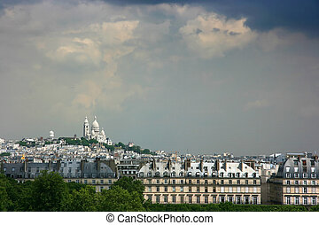 Montmartre - Sacre Coeur basilique on top of Montmartre,...