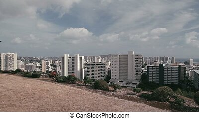 Pan along Honolulu Skyline - 1080p, Landscapes of Hawaii,...