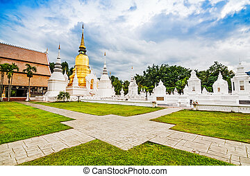 Temple Wat Suan Dok monastery in Chiang Mai , Thailand