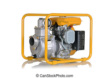 Water pump with gasoline engine - Pump for water with the...