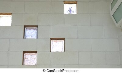 Poolside Windows - Close up view of the locker room windows...