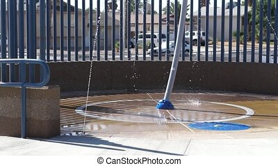 Pool Water Fountain - A water fountain feature,