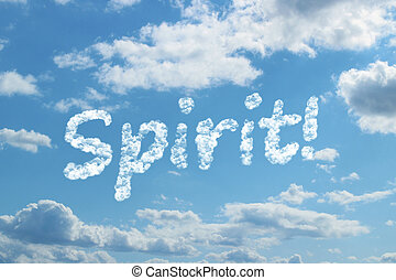 Spirit word on cloud concept.