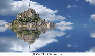 Le Mont Saint Michel, time lapse - Le Mont Saint Michel, an...