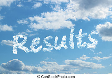 Results word on cloud