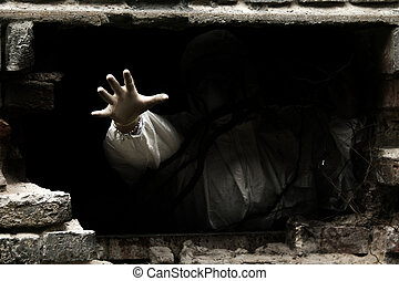 mão, escuridão