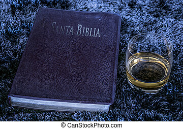 Bible and alcohol - Contrast between a bible religious...