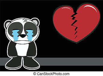 little panda bear cartoon postal8 - little panda bear...