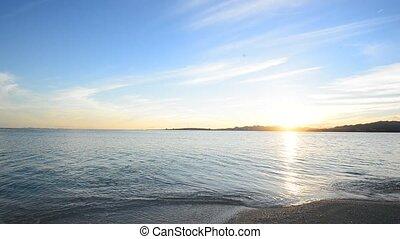 Beautiful morning sun at the beach