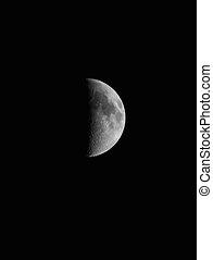 Half Moon - Closeup of the ascending half moon