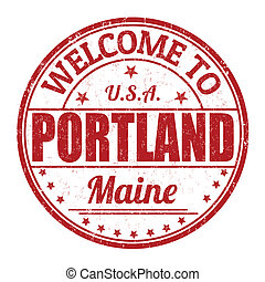 Welcome to Portland stamp - Welcome to Portland grunge...