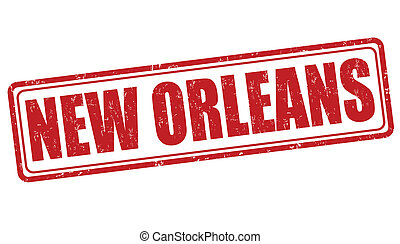 New Orleans stamp - New Orleans grunge rubber stamp on white...