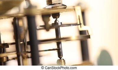 Clock?Mechanism - Close up of a internal?clock?mechanism