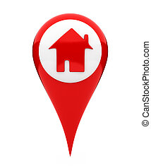 Location marker showing home icon
