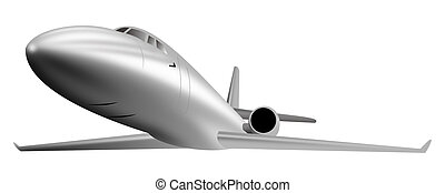 Light commerical jet plane - Illustration of a commercial...