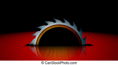 circular Saw - circular saw vector illustration abstract...