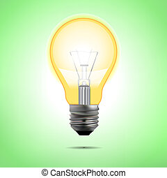 incandescent electric lamp in vector format Incandescent...