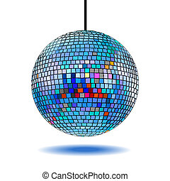 mirror disco ball vector illustration EPS10. Transparent...