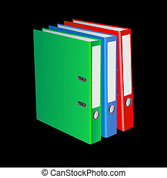 folder with documents office folder vector illustration